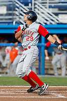 Brooklyn Cyclones Travis Taijeron #29 during the first game of a doubleheader against the Batavia Muckdogs at Dwyer Stadium on August 11, 2011 in Batavia, New York.  Brooklyn defeated Batavia 3-1.  (Mike Janes/Four Seam Images)