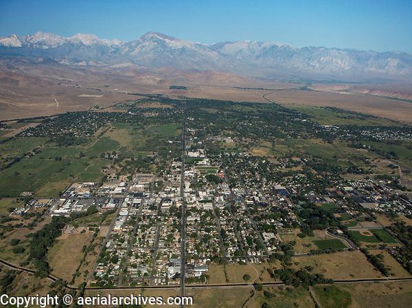 aerial photograph Bishop, Inyo County, California