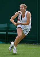 25-06-13, England, London,  AELTC, Wimbledon, Tennis, Wimbledon 2013, Day two, Olga Puchkova (RUS)<br /> <br /> <br /> <br /> Photo: Henk Koster