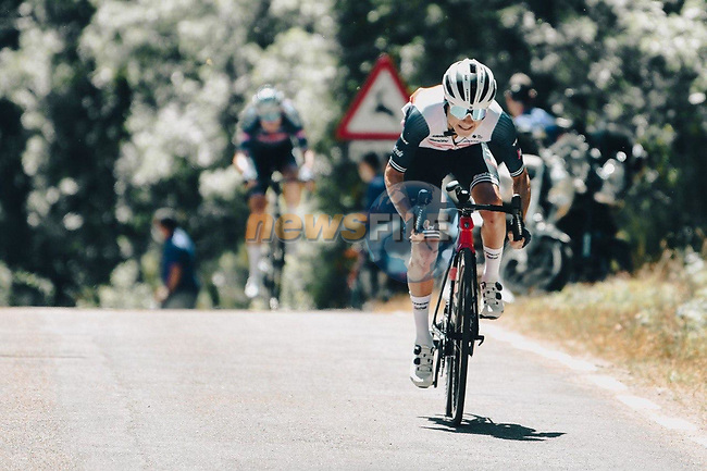 Kenny Elissonde (FRA) Trek-Segafredo during Stage 3 of La Vuelta d'Espana 2021, running 202.8km from Santo Domingo de Silos to Picon Blanco, Spain. 16th August 2021.    <br /> Picture: Cxcling | Cyclefile<br /> <br /> All photos usage must carry mandatory copyright credit (© Cyclefile | Cxcling)
