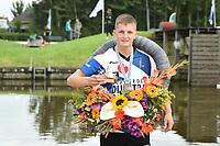 FIERLJEPPEN: WINSUM: 05-09-2020, FK Fierljeppen, Kampioen Wisse Broekstra (jongens), ©foto Martin de Jong