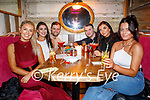 Christina Foley, Tonya O'Sullivan, James, Gary and Anna Foley and Sarah Griffin enjoying the evening in Molly Js on Saturday.