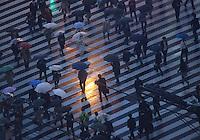 People at crossing near  Seibu Shinjuku station in Shinjuku, Tokyo