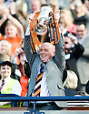 15/05/2010   Copyright  Pic : James Stewart.sct_js004_ross_county_v_dundee_utd  .:: DUNDEE UTD MANAGER PETER HOUSTON LIFTS THE CUP  ::  .James Stewart Photography 19 Carronlea Drive, Falkirk. FK2 8DN      Vat Reg No. 607 6932 25.Telephone      : +44 (0)1324 570291 .Mobile              : +44 (0)7721 416997.E-mail  :  jim@jspa.co.uk.If you require further information then contact Jim Stewart on any of the numbers above.........
