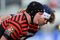 20130303 Copyright onEdition 2013©.Free for editorial use image, please credit: onEdition..(L-R) Matt Stevens, Schalk Brits and Nick Auterac of Saracens prepare to scrum down during the Premiership Rugby match between Saracens and London Welsh at Allianz Park on Sunday 3rd March 2013 (Photo by Rob Munro)..For press contacts contact: Sam Feasey at brandRapport on M: +44 (0)7717 757114 E: SFeasey@brand-rapport.com..If you require a higher resolution image or you have any other onEdition photographic enquiries, please contact onEdition on 0845 900 2 900 or email info@onEdition.com.This image is copyright onEdition 2013©..This image has been supplied by onEdition and must be credited onEdition. The author is asserting his full Moral rights in relation to the publication of this image. Rights for onward transmission of any image or file is not granted or implied. Changing or deleting Copyright information is illegal as specified in the Copyright, Design and Patents Act 1988. If you are in any way unsure of your right to publish this image please contact onEdition on 0845 900 2 900 or email info@onEdition.com