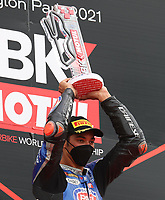 Toprak Razgatlioglu wins race 3 during the 2021 UK Round of the MOTUL FIM Superbike World Championship (WSB) at Donington Park GP Race Circuit, Donington Park GP, England on the 2-4 July 2021. Photo by Ian Hopgood.