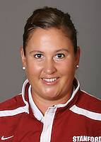 STANFORD, CA - NOVEMBER 3:  Trisha Dean of the Stanford Cardinal softball team poses for a headshot on November 3, 2008 in Stanford, California.