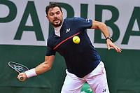 2nd October 2020, Roland Garros, Paris, France; French Open tennis, Roland Garros 2020; Tennis - Roland Garros  2020 - Stan Wawrinka - Suisse