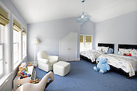 kids bedroom with plush toys