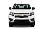 Car photography straight front view of a 2017 Chevrolet Colorado 2WD wt Extended Cab 3 Door Pick-up Front View