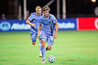 LAKE BUENA VISTA, FL - JULY 14:  during a game between Orlando City SC and New York City FC at Wide World of Sports on July 14, 2020 in Lake Buena Vista, Florida.