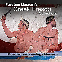 Pictures of the Painted Tombs of Paestum. Ancient Greek Fresco Photos & Images
