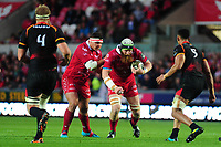 Jake Ball of Scarlets in action during the Guinness Pro14 Round 5 match between Scarlets and Isuzu Southern Kings at the Parc Y Scarlets in Llanelli, Wales, UK. Saturday 29 September 2018