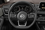 Car pictures of steering wheel view of a 2021 Nissan Rogue S 5 Door SUV Steering Wheel