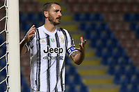Leonardo Bonucci of Juventus FC reacts during the Serie A football match between FC Crotone and Juventus FC at stadio Ezio Scida in Crotone (Italy), October 17th, 2020. Photo Federico Tardito / Insidefoto