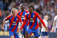 11th September 2021; Selhurst Park, Crystal Palace, London, England;  Premier League football, Crystal Palace versus Tottenham Hotspur: Wilfried Zaha of Crystal Palace celebrates after scoring the 1st goal from a penalty in the 76th minute to make it 1-0