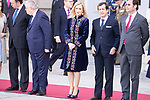 Cristina Cifuentes receive president of Portugal Marcelo Rebelo de Sousa at the Royal Palace in Madrid, Spain. April 16, 2018. (ALTERPHOTOS/Borja B.Hojas)