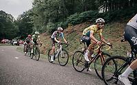 Fabio Aru (ITA/Astana) and other GC contenders up the Mur de Péguère (Cat1/1375m/9.3km/7.9%)<br /> <br /> 104th Tour de France 2017<br /> Stage 13 - Saint-Girons › Foix (100km)