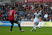 Saturday 17 August 2013<br /> <br /> Pictured: Jose Canas  of Swansea<br /> <br /> Re: Barclays Premier League Swansea City v Manchester United at the Liberty Stadium, Swansea, Wales