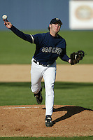 Micah Owings of the Georgia Tech Yellow Jackets pitches during a 2004 season game against the Southern California Trojans at Goodwin Field, in Fullerton, California. (Larry Goren/Four Seam Images)