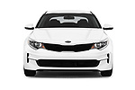 Car photography straight front view of a 2016 KIA Optima LX Turbo 4 Door Sedan