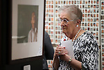 Sherry Siegfried, of Carson City, looks at the Always Lost: A Meditation on War exhibit at the Legislative Building in Carson City, Nev., on Monday, April 6, 2015. <br />
