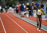 EUGENE, OR--Melaine Walker of Jamaica sets a new Pre Classic record in the womens 400m hurdles with a time of 54.14 at the Steve Prefontaine Classic, Hayward Field, Eugene, OR. SUNDAY, JUNE 10, 2007. PHOTO © 2007 DON FERIA