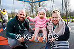 Enjoying the playground in the Tralee town park on Sunday, l to r: John and Pearl Turner and Romy Birdthistle.