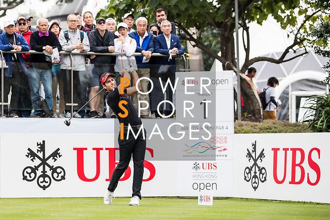 Carlos Pigem of Spain tees off during the day three of UBS Hong Kong Open 2017 at the Hong Kong Golf Club on 25 November 2017, in Hong Kong, Hong Kong. Photo by Yu Chun Christopher Wong / Power Sport Images