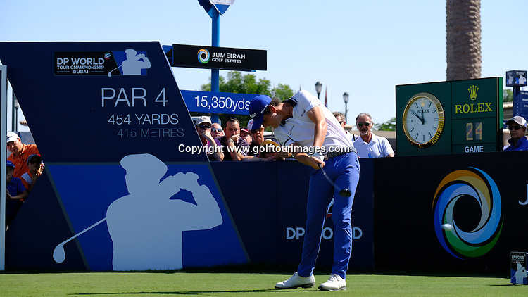 Renato Paratore (ITA) during round two of the 2016 DP World Tour Championships played over the Earth Course at Jumeirah Golf Estates, Dubai, UAE: Picture Stuart Adams, www.golftourimages.com: 11/18/16