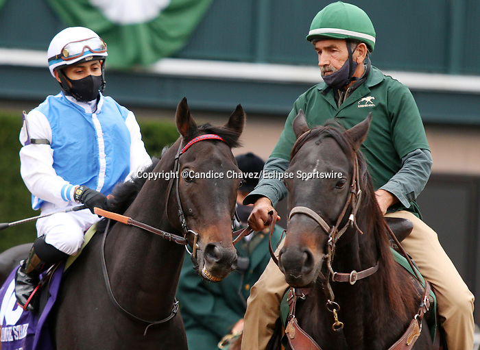 Octover 15, 2020 : #10 Ziyad (GB) and jockey Manuel Franco finish 3rd in the Sycamore Grade 3 $150,000 at Keeneland Racecourse in Lexington, KY on October 15, 2020.  Candice Chavez/ESW/CSM