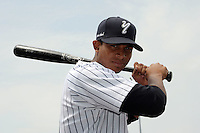Staten Island Yankees outfielder Eduardo Sosa (13) during first team workout at Richmond County Bank Ballpark at St. George in Staten Island, NY June 15, 2010.  Photo By Tomasso DeRosa/ Four Seam Images