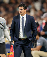 CARSON, CA - SEPTEMBER 21: Wilmer Cabrera head coach of the Montreal Impact during a game between Montreal Impact and Los Angeles Galaxy at Dignity Health Sports Park on September 21, 2019 in Carson, California.