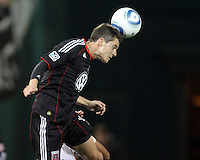 Santino Quaranta (25) of D.C. United  during an MLS match against the Los Angeles Galaxy at RFK Stadium, on April 9 2011, in Washington D.C. The game ended in a 1-1 tie.
