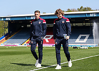 Bolton Wanderers' Joe Pritchard and Luca Connell pictured before the match<br /> <br /> Photographer Andrew Kearns/CameraSport<br /> <br /> The EFL Sky Bet Championship - Blackburn Rovers v Bolton Wanderers - Monday 22nd April 2019 - Ewood Park - Blackburn<br /> <br /> World Copyright © 2019 CameraSport. All rights reserved. 43 Linden Ave. Countesthorpe. Leicester. England. LE8 5PG - Tel: +44 (0) 116 277 4147 - admin@camerasport.com - www.camerasport.com