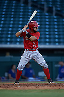 AZL Angels Edwin Bisay (5) at bat during an Arizona League game against the AZL Cubs 1 on June 24, 2019 at Sloan Park in Mesa, Arizona. AZL Cubs 1 defeated the AZL Angels 12-0. (Zachary Lucy / Four Seam Images)
