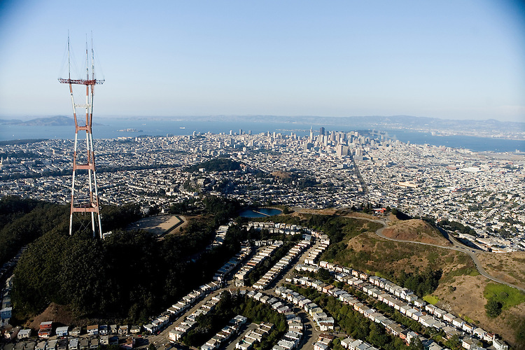 August 5, 2006; San Francisco, CA, USA; Aerial view of downtown San Francisco from Sutro Tower in San Francisco, CA. Photo by: Phillip Carter