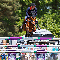 GBR-Richard Coney rides Kananaskis during the Showjumping for the CCI-SO4*. 2019 GBR-Saracen Horse Feeds Houghton International Horse Trial. Saturday 25 May. Copyright Photo: Libby Law Photography