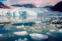 Le Conte Glacier, the southernmost tidewater glacier in the US, near Petersburg, Alaska, USA, Pacific Ocean