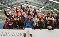 19-01-13, Tennis, Rotterdam, Wildcard for qualification ABNAMROWTT,  Fabian v d Lans met fanclub