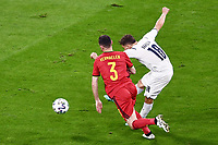 2nd July 2021; Allianz Arena, Munich, Germany; European Football Championships, Euro 2020 quarterfinals, Belgium versus Italy;   Nicolo Barella Italy shoots and scores for 1-0