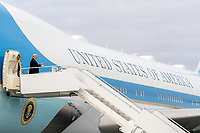President Trump Travels to New Hampshire<br /> <br /> President Donald J. Trump disembarks Air Force One at Manchester-Boston Regional Airport Sunday, Oct. 25, 2020, in Manchester, N.H. (Official White House Photo by Shealah Craighead)