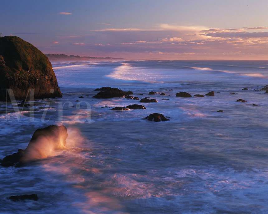 Trinidad State Beach at sunset. California.