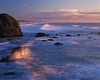 Trinidad State Beach at sunset. California.