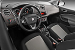 High angle dashboard view of a 2013 Seat Ibiza Style Hatchback