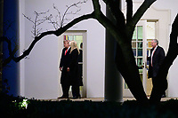 United States President Donald J. Trump, First Daughter and Advisor to the President Ivanka Trump and White House Chief of staff Mark Meadows depart the White House en route to Dalton, Georgia, in Washington D.C., U.S., on Monday, January 4, 2021. <br /> CAP/MPI/RS<br /> ©RS/MPI/Capital Pictures