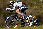 Lennard Kamna (GER) Bora-Hansgrohe in action during Stage 2 of the 100th edition of the Volta Ciclista a Catalunya 2021, an 18.5km Individual Time Trial around Banyoles, Spain. 23rd March 2021.   <br /> Picture: Bora-Hansgrohe/Luis Angel Gomez/BettiniPhoto | Cyclefile<br /> <br /> All photos usage must carry mandatory copyright credit (© Cyclefile | Bora-Hansgrohe/Luis Angel Gomez/BettiniPhoto)