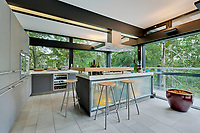 BNPS.co.uk (01202) 558833. <br /> Pic: Savills/BNPS<br /> <br /> Pictured: Kitchen/breakfast room. <br /> <br /> The UK home of Hollywood actor Antonio Banderas is on the market for £2.95m.<br /> <br /> The Mask of Zorro star moved from LA to Cobham in Surrey in 2015 with girlfriend Nicole Kimpel after splitting from his wife of 20 years Melanie Griffiths.<br /> <br /> They are now selling their home to spend more time in Banderas' native Malaga, where he has bought and built a theatre.
