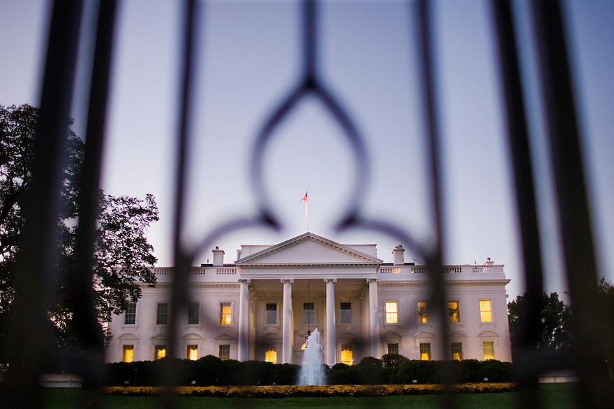 The White House, formerly known as the Executive Mansion, is the official residence and principal workplace of the President of the United States. Located at 1600 Pennsylvania Avenue NW in Washington, D.C., it was built between 1792 and 1800 of white-painted Aquia sandstone in the late Georgian style and has been the executive residence of every U.S. President since John Adams. ...Photo by Brooks Kraft/Corbis.....................