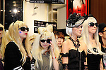 """Lady Gaga's Fans, May 23rd, 2011: Antonio Inoki attends release event for Lady Gaga's new album """"Born This Way"""" which took place at Tsutaya in Shibuya, Tokyo, Japan.  Inoki has been appointed as a """"security guard"""" as the album has been protected under tight security until its release."""